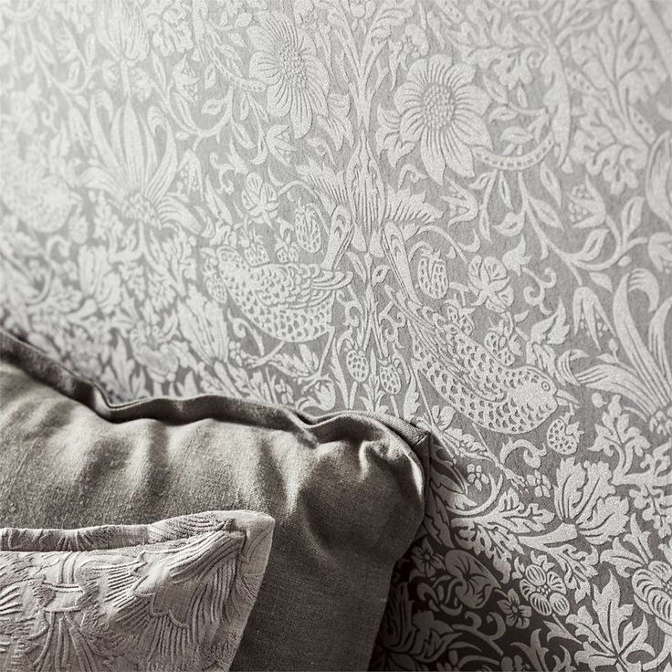 The Original Morris & Co - Arts and crafts, fabrics and wallpaper designs by William Morris & Company | Products | British/UK Fabrics and Wallpapers | Pure Strawberry Thief (DMPU216017) | Pure Wallpapers