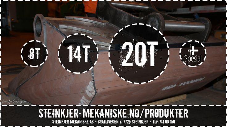 NY #Hardox 20T #Pusseskuffe (8T, 14T, 20T + Spesial)