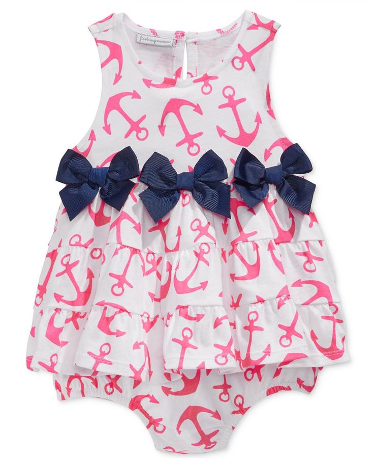 First Impressions Baby Girls' Anchor-Print Sunsuit, Only at Macy's