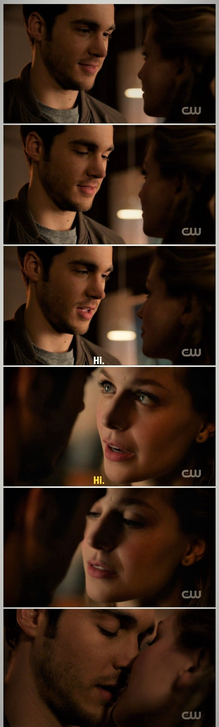 "Oh, the Almost-Kiss. So not fair. But Kara and Mon-El have the cutest dumbstruck looks, (and the dorkiest ""Hi""s) so whatever. It's all good <3 |TV Shows||CW||#Supergirl edit||Season 2||2x12||""Luthors""||Kara x Mon-El||#Karamel edit||Kara Danvers||Melissa Benoist||Chris Wood||#DCTV|"