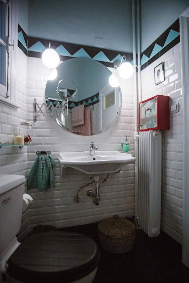 Art Deco House, Vintage Bathroom, Dimitra Marini, Architects
