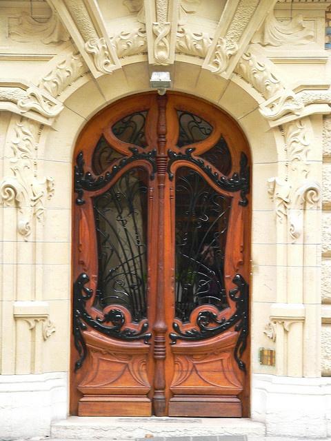 Doorway on 3  Rapp Square, Paris by Jules Lavirotte