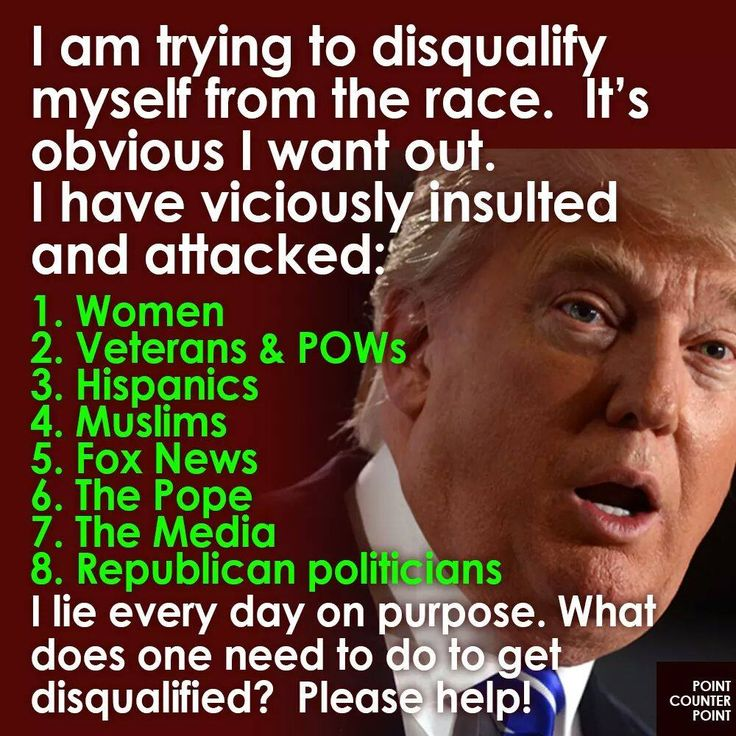 Just a starter list ... Trump was very obviously way in over his depth from the very start. Help both him and the rest of the long list of do-nothing, obstructionist Congress members out ... Get out theVote and Vote Blue in November!!