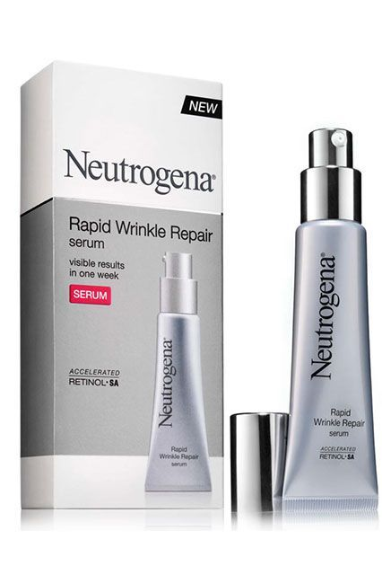 For a more affordable option, check out this serum from Neutrogena, which we think works just as well as the expensive stuff. The lightweight formulation contains retinol to brighten the skin and fade dark spots while hyaluronic acid provides an extra kick of hydration.Neutrogena Rapid Wrinkle Repair Serum, $23.99, available at Ulta. #refinery29 http://www.refinery29.com/retinol-products-different-skin-types#slide-3