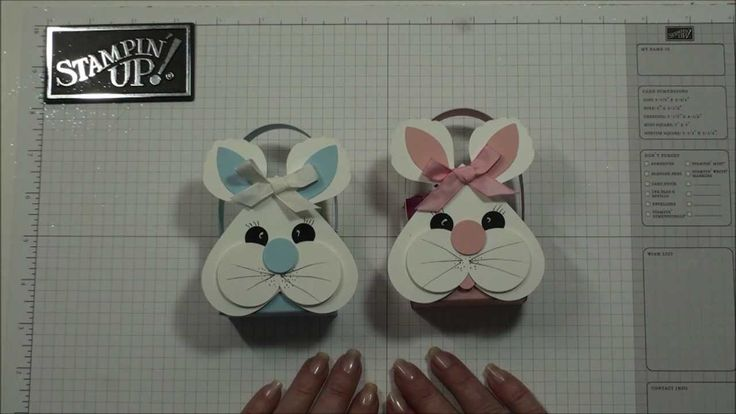 Thanks for watching :) Today we will be making this adorable Easter Bunny to decorate the easter basket . We will be using the Heart Framelits from Stampin'U...