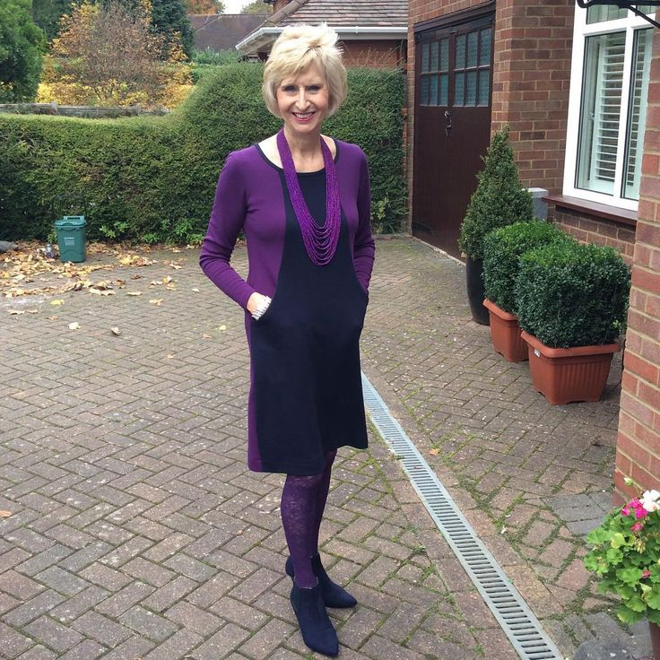 Sew Over It Heather Dress made in ponte di Roma jersey. Love the colour-blocking!