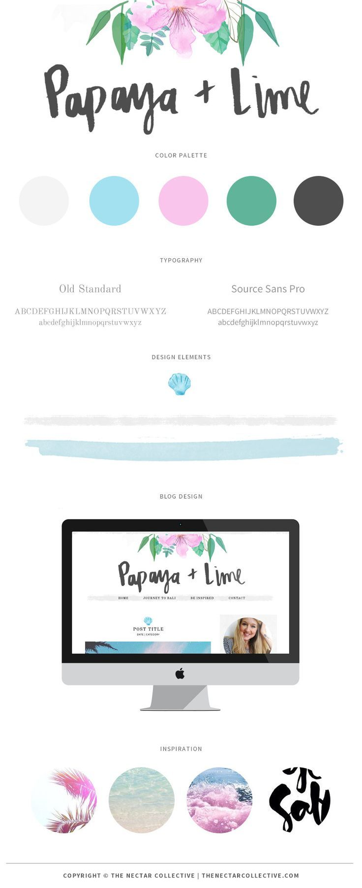 Web colors lime - Branding And Blog Design For Papaya Lime