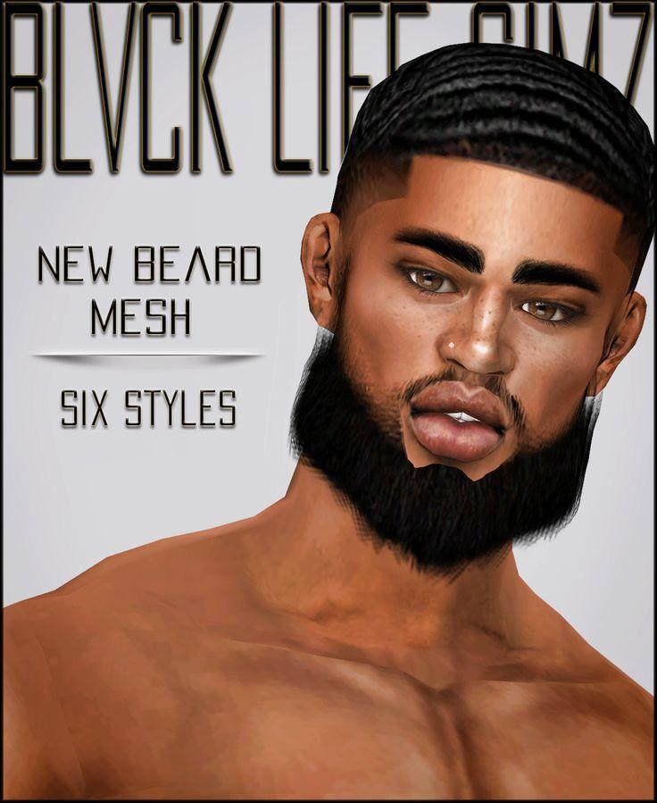 Blvck Life Simz B L S New Beard Mesh Six Styles