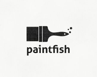 Paintfish - Great logo / repinned by http://stephaniegraphisme.wix.com/portfolio