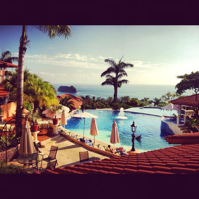 The view from the main pool at Parador Resort Spa in #Quepos, #ManuelAntonio, #CostaRica. www.hotelparador.com