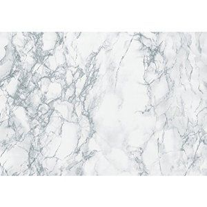 "Marble contact paper. 17"" x 6'. $6.10 from Amazon. Could use this a lot of places..."