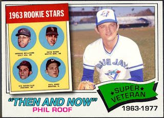 """WHEN TOPPS HAD (BASE)BALLS!: THEN AND NOW """"SUPER VETERAN""""- 1977 PHIL ROOF"""