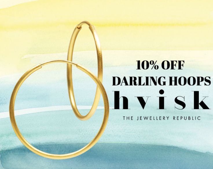 10% discount on darling hoops ends 19/6