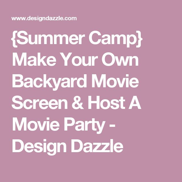how to make your own movie screen