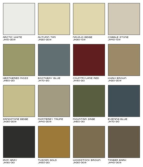 House exterior siding color scheme james hardie siding for Popular vinyl siding colors