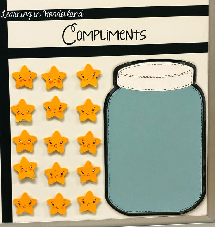 when others compliment your class, you can give them a star and when it is filed up, they can earn something.