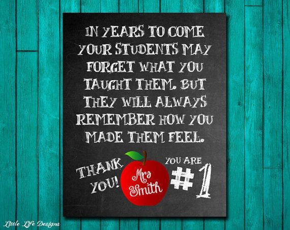 Gift for Teacher. Classroom Sign. Teacher Appreciation. End of Year Teacher Gift. Personalized Teacher Gift. Great School Teacher Gift on Etsy, $6.00