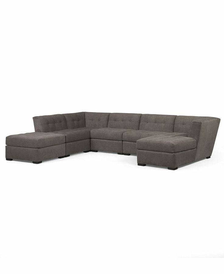 Roxanne Fabric Modular Sectional Sofa 6 Piece Square