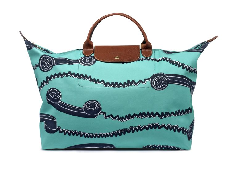 "Le Pliage ""Telephone"" - Collaboration with Jeremy Scott. Longchamp Collection SS 2007"