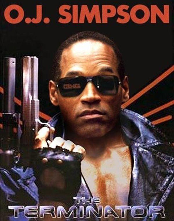 OJ Simpson as Terminator | Terminator, Oj simpson, Hip hop music