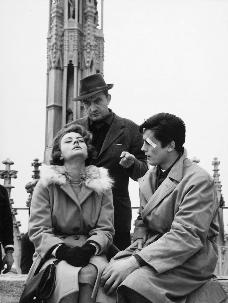Luchino Visconti, Alain Delon, Annie Girardot (Rocco and his brothers)