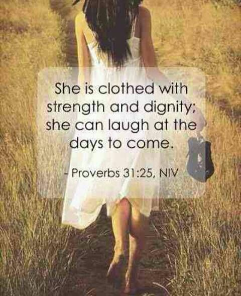 Verse She Is Clothed With Dignity: Gather Pins Here / Seperate Later To