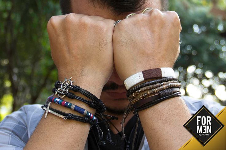 Mix de pulseiras em couro e trançadas | Bijulovers