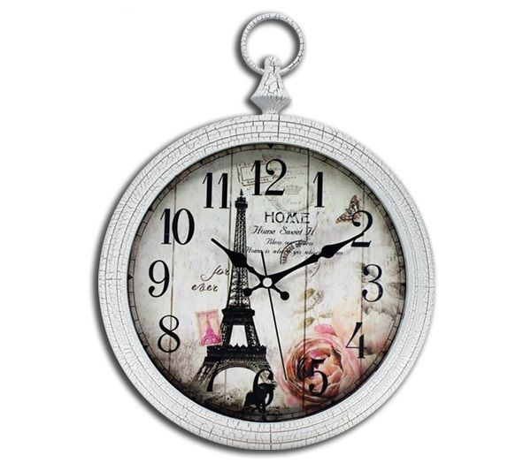 Eyfel Duvar Saati Camlı 40cm Duvar Saati