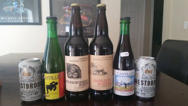 1) Geuze by Brasserie Cantillon 1) Kriek by Brasserie Cantillon 1) Rapadou Porter by Alewerks 1) Bourbon Barrel Porter by Alewerks 2) Gose by Westbrook Brewing Company  #craftbeer #beer #beertrade #beertrades #beersnobs #beersnob #beergeek #beergeeks #beernerd #beernerds #brew #beerporn #beertrader #beertraders