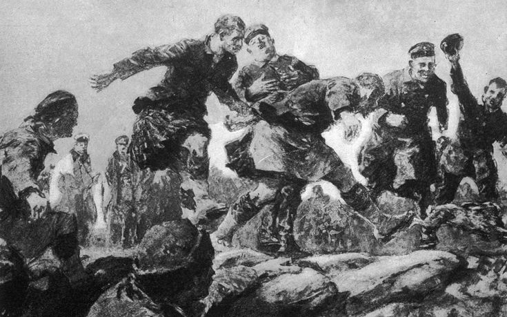 The famous First World War football match of the Christmas Day truce started after a ball was kicked from the British lines into No Man's Land.