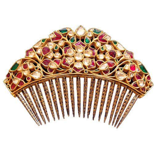 Indian Hair-Pin with Jewels, by Sunita Shekhawat Jewellery Designer