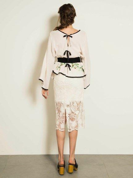 ミモレタイトレーススカート(ロングスカート)|snidel(スナイデル)|ファッション通販|ウサギオンライン公式通販サイト