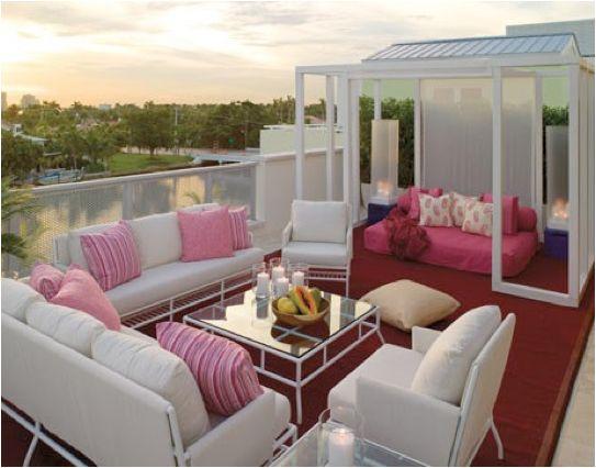 City oasisOutdoorliving, Patios Design, Decks, Outdoor Living, Dreams House, Outdoor Room, Pink, Rooftops Patios, Outdoor Spaces