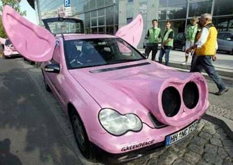 pig car 14 Crazy Car Mods