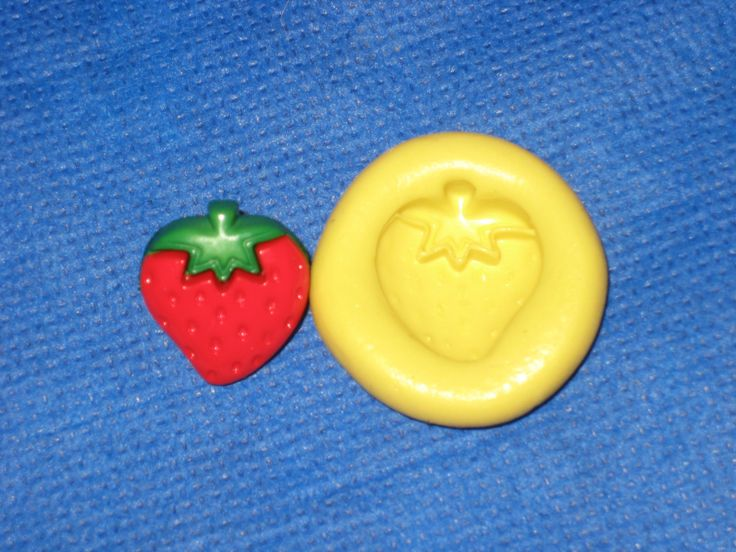 Strawberry Flexible Push Mold Candy Food Safe Silicone #327 Fondant Chocolate by LobsterTailMolds on Etsy