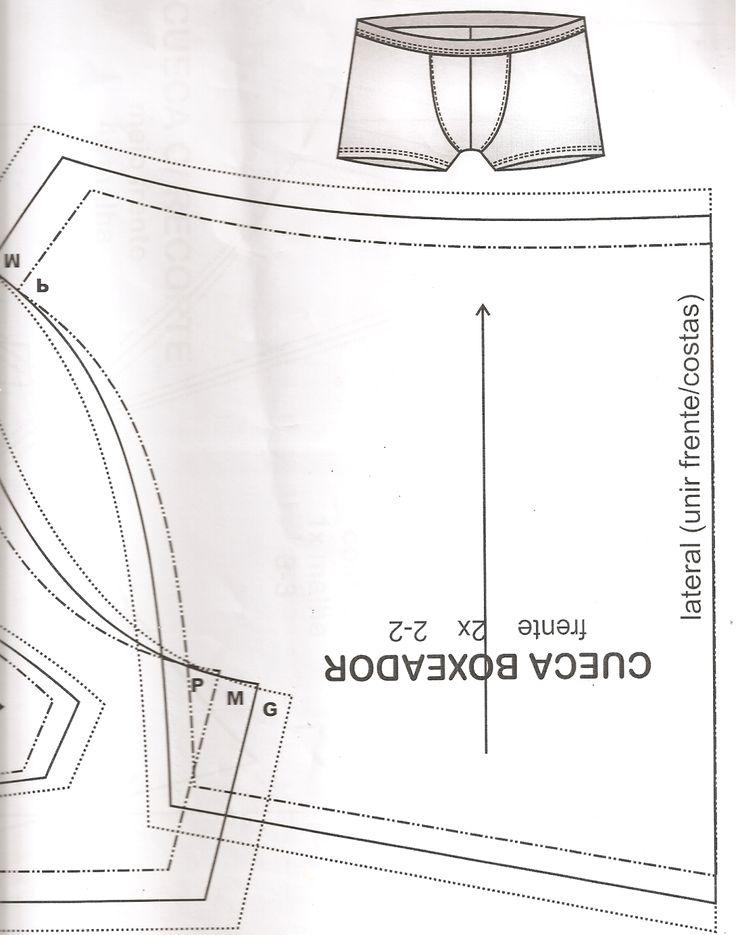 Moda Costurada: Molde Cueca Boxer!