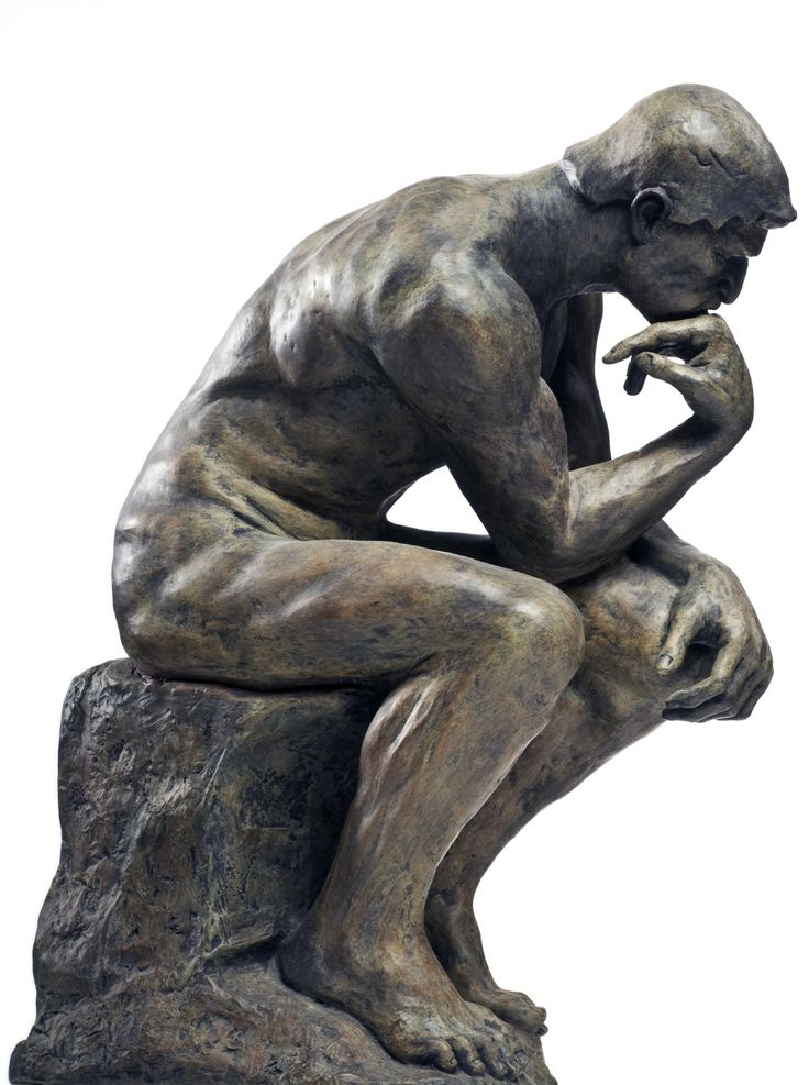 Image result for thinking guy statue