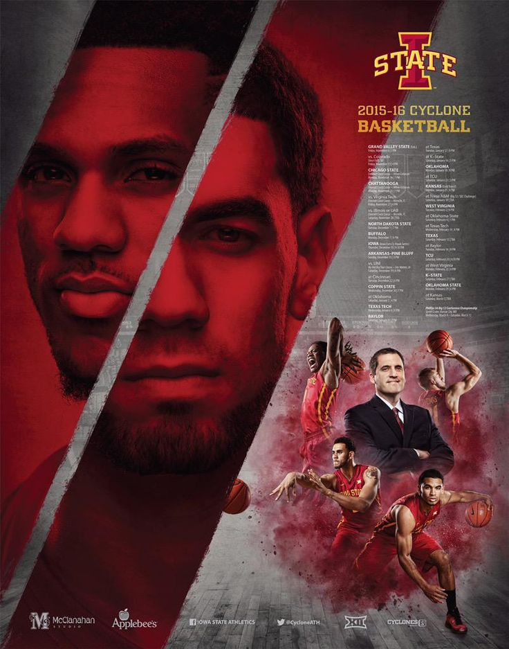 2015-16 Iowa State Men's Basketball Poster