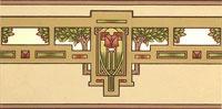 Arts & Crafts Wallpaper, Craftsman Style Wallpaper | Thatch Colorway | Bradbury & Bradbury