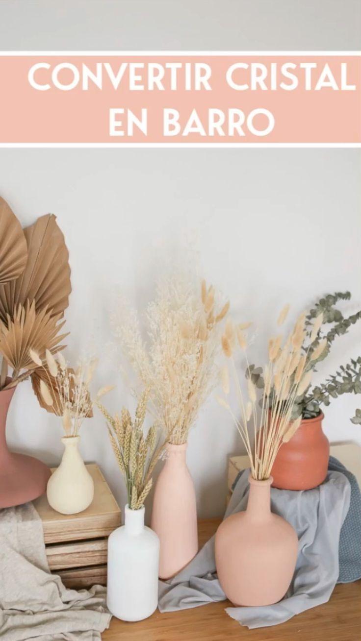 Home Decor Vases, Cheap Home Decor, Diy Home Decor, Diy Crafts Hacks, Diy Home Crafts, Painted Vases, Giant Paper Flowers, Boho Diy, Pottery Vase