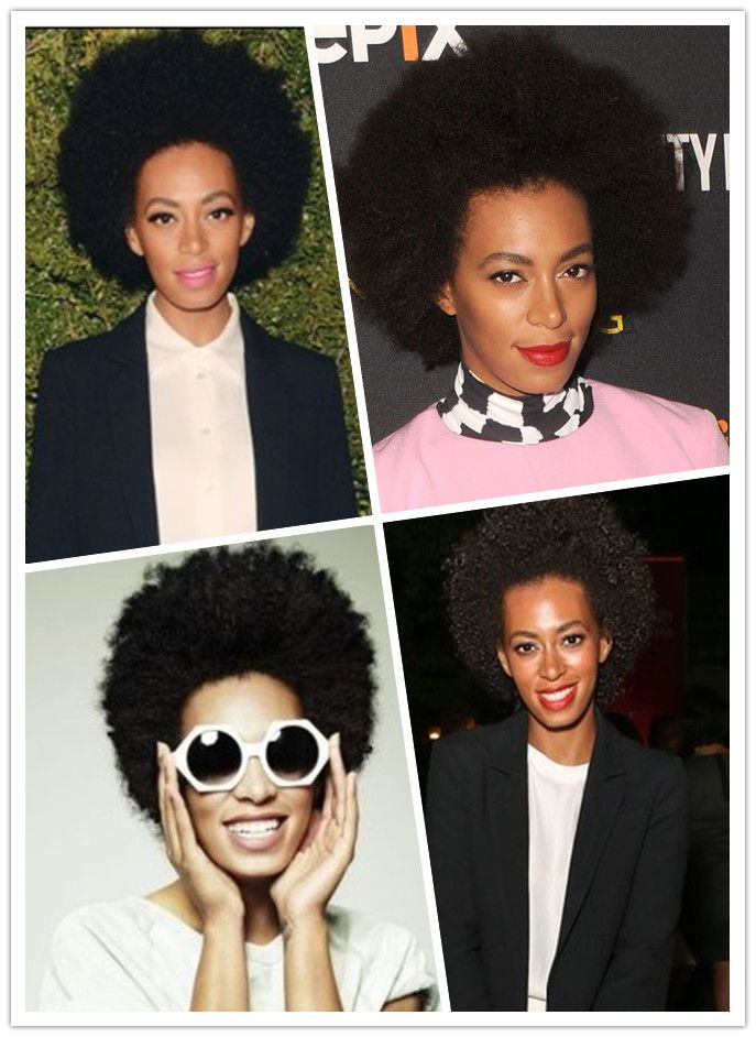 Solange Knowles Short Afro Curly Hairstyles... Peep bottom ledt