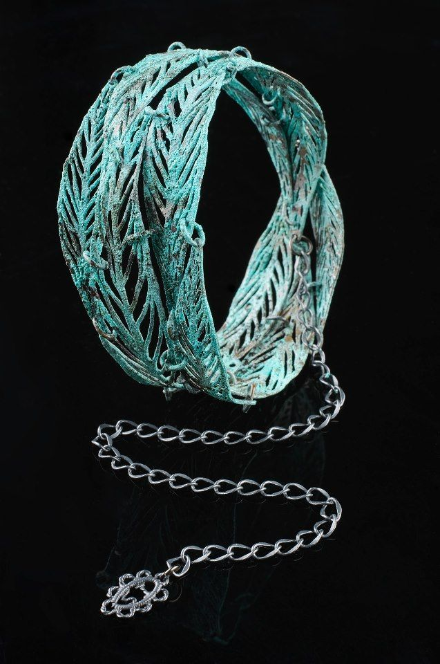 Taking inspiration from ancient lace and crochet patterns with Inbar Shahak-textile jewelry VERDIGRIS Collection: