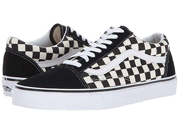 Vans Old Skool Sneaker Damen Herren Kinder Unisex Schwarz Weiss Kariert Vans Old Skool Sneaker Damen Sneaker