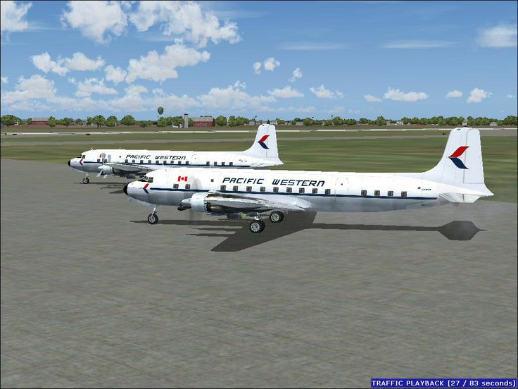 PACIFIC WESTERN AIRLINES DC-6