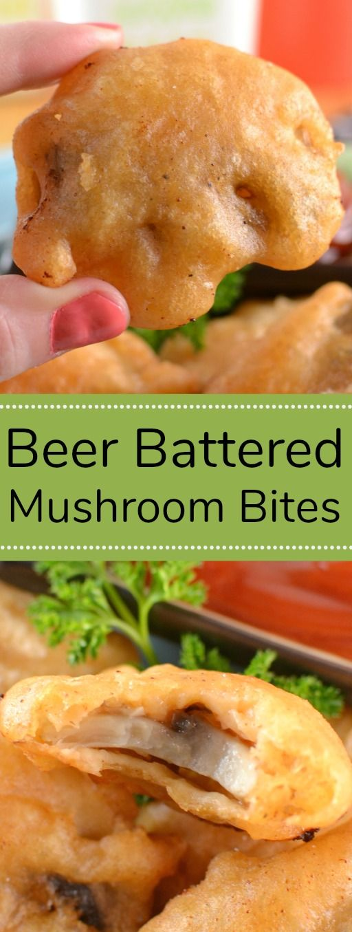 Beer Battered Mushroom Bites Recipe from Hot Eats and Cool Reads! These tasty mushroom bites are the perfect party appetizer! We love serving them for football or basketball game days and holidays! #sundaysupper