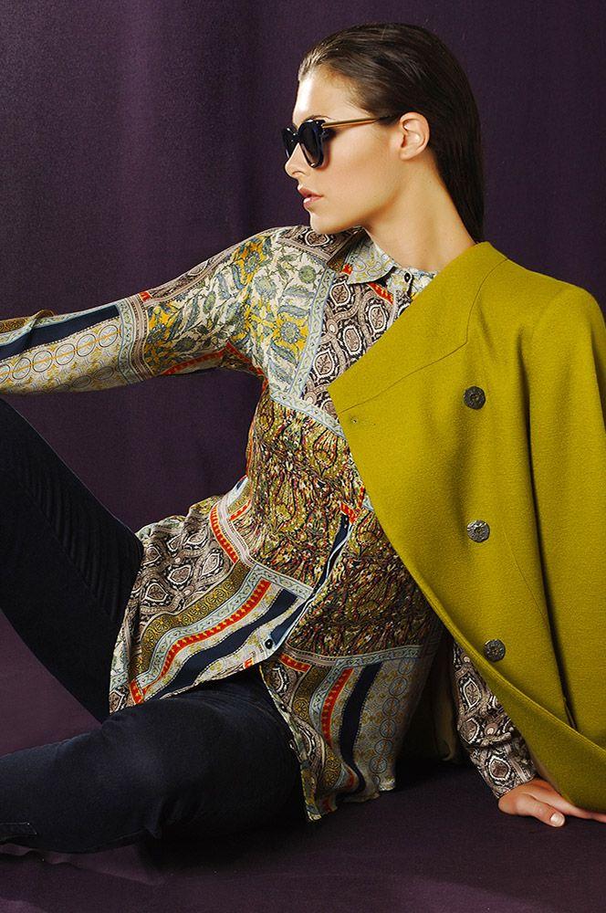 5331 Frankincense Coat, 4893 Silk Shirt, 5366 Denim Pant