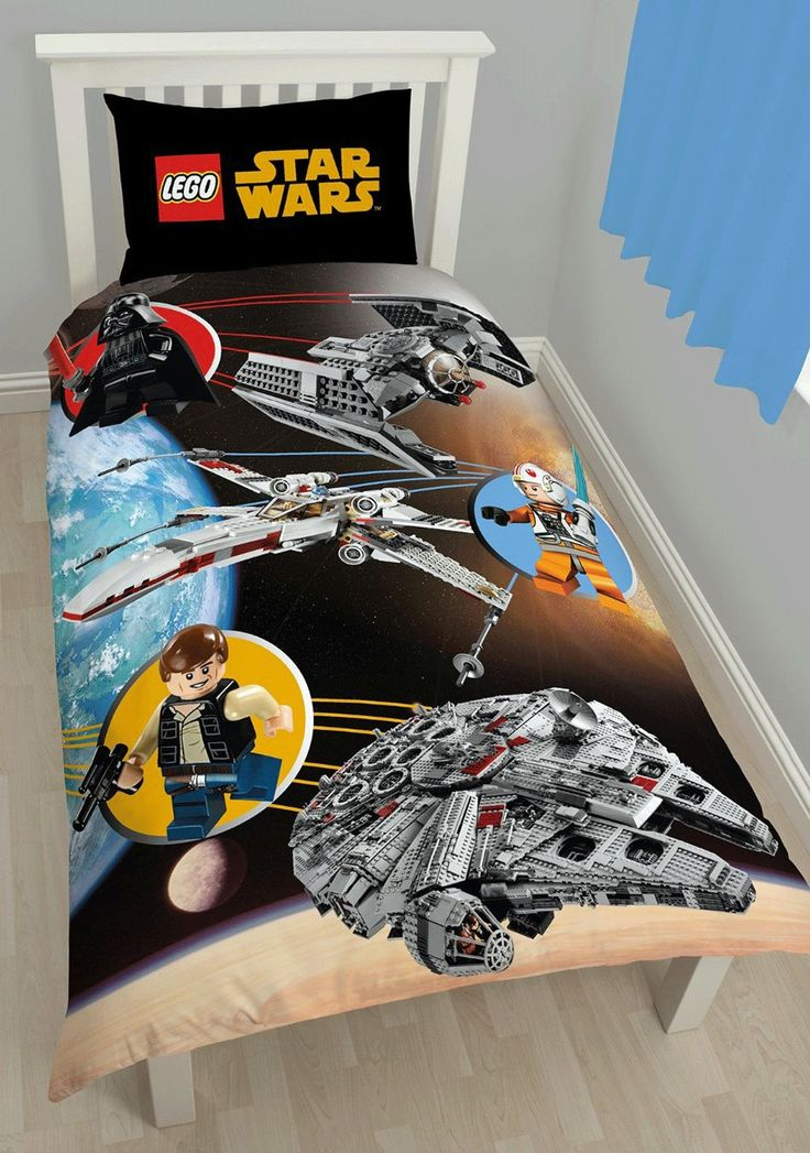 Lego Star Wars Space Single Panel Bedding Set