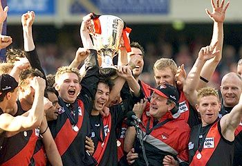 Most recent premiership Essendon won was in the year 2000 and they're not far off their 17th