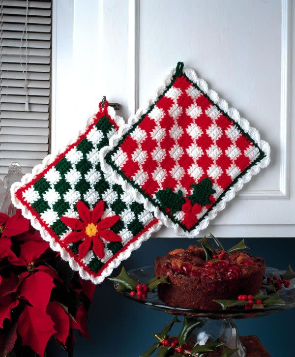Talking Crochet ... Checkered Hot Mats ~ design by Vicki Blizzard ~ free pattern