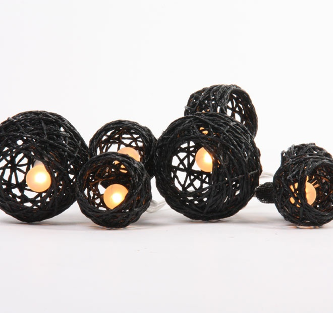 Rouge Living String Lighting Cane Ball Black